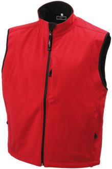 Werbeartikel Bodywarmer Mens Softshell Vest - red