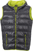 Men s Down Vest - carbon/acid-yellow