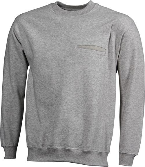 Werbeartikel Sweatshirt Round Pocket Men