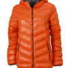 Werbeartikel Daunenjacke James Nicholson - dark orange/carbon