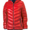 Werbeartikel Daunenjacke James Nicholson - red/navy