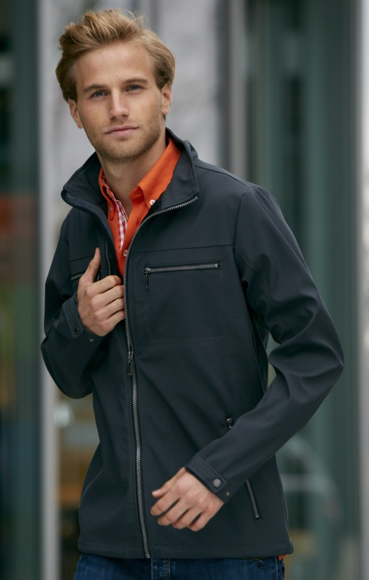 Herren Softshell Jacke Tailord James and Nicholson