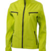 Damen Softshelljacke Tailord James and Nicholson - acid yellow