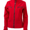 Damen Softshelljacke Tailord James and Nicholson - red