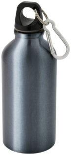 Trinkflasche - stahlblau/silberfarben