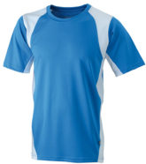 Mens Running-T James & Nicholson - royal white