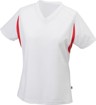 Ladies Running-T James & Nicholson - white/red