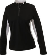 Ladies Running Shirt Langarm James & Nicholson - black/white