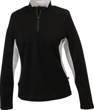 Ladies Running Shirt Langarm James & Nicholson - black/white
