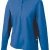 Ladies Running Shirt Langarm James & Nicholson - royal/black