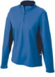 Ladies Running Shirt Langarm James & Nicholson - royal/black