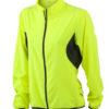 Ladies Running Jacket James & Nicholson - fluo-gelb/black