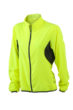 Ladies Running Jacket James & Nicholson - fluo-gelb/black