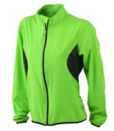 Ladies Running Jacket James & Nicholson - fluo-green/black