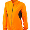 Ladies Running Jacket James & Nicholson - fluo-orange/black