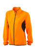 Ladies Running Jacket James & Nicholson - fluo-orange/black