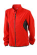Ladies Running Jacket James & Nicholson - red/black