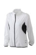 Ladies Running Jacket James & Nicholson - white/black