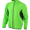 Mens Running Jacket James & Nicholson - fluo-green/black