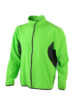 Mens Running Jacket James & Nicholson - fluo-green/black