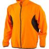 Mens Running Jacket James & Nicholson - fluo-orange/black