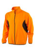 Mens Running Jacket James & Nicholson - fluo-orange/black