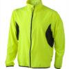 Mens Running Jacket James & Nicholson - fluo-yellow/black