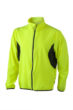 Mens Running Jacket James & Nicholson - fluo-yellow/black
