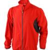 Mens Running Jacket James & Nicholson - red/black
