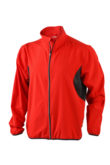 Mens Running Jacket James & Nicholson - red/black