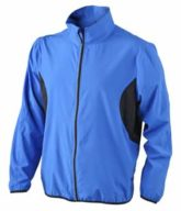 Mens Running Jacket James & Nicholson - royal/black