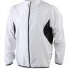 Mens Running Jacket James & Nicholson - white/black