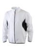Mens Running Jacket James & Nicholson - white/black