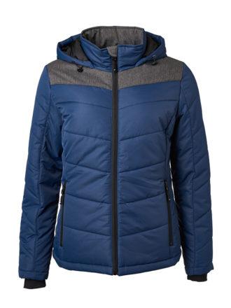 Ladies' Winter Jacket James & Nicholson - navy/anthracite-melange