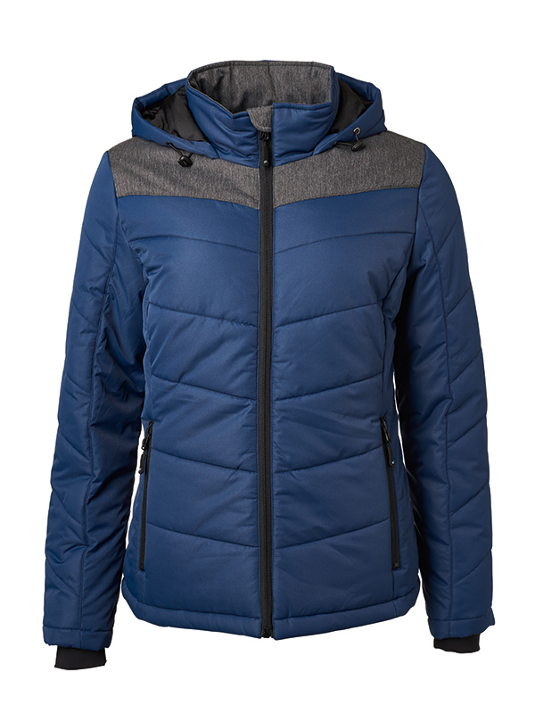 Ladies' Winter Jacket James & Nicholson - navy/anthracite-melange