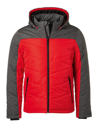 Men's Winter Jacket - red/anthracite-melange