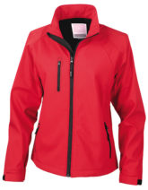 Womens Base Layer Soft Shell Jacket - red