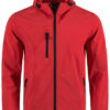 Active Softshell Hooded Jacket Stedman - red