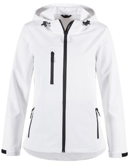 Active Women Softshell Hooded Jacket Stedman - white