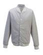 College Jacket Just Hoods - heather grey