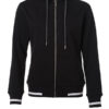 Ladies Club Sweat Jacket James and Nicholson - black white