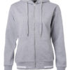 Ladies Club Sweat Jacket James and Nicholson - grey heather white