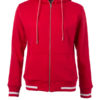 Ladies Club Sweat Jacket James and Nicholson - red white