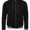 Mens Club Sweat Jacket James and Nicholson - black white