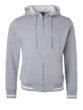 Mens Club Sweat Jacket James and Nicholson - grey heather white
