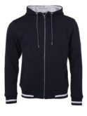 Mens Club Sweat Jacket James and Nicholson - navy white