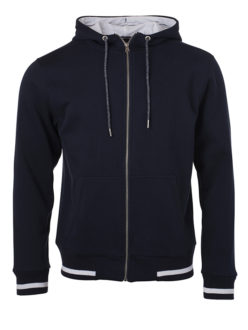 Mens Club Sweat Jacket James and Nicholson - navy white