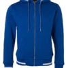 Mens Club Sweat Jacket James and Nicholson - royal white