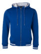 Mens Club Sweat Jacket James and Nicholson - royal white