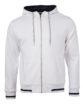 Mens Club Sweat Jacket James and Nicholson - white navy